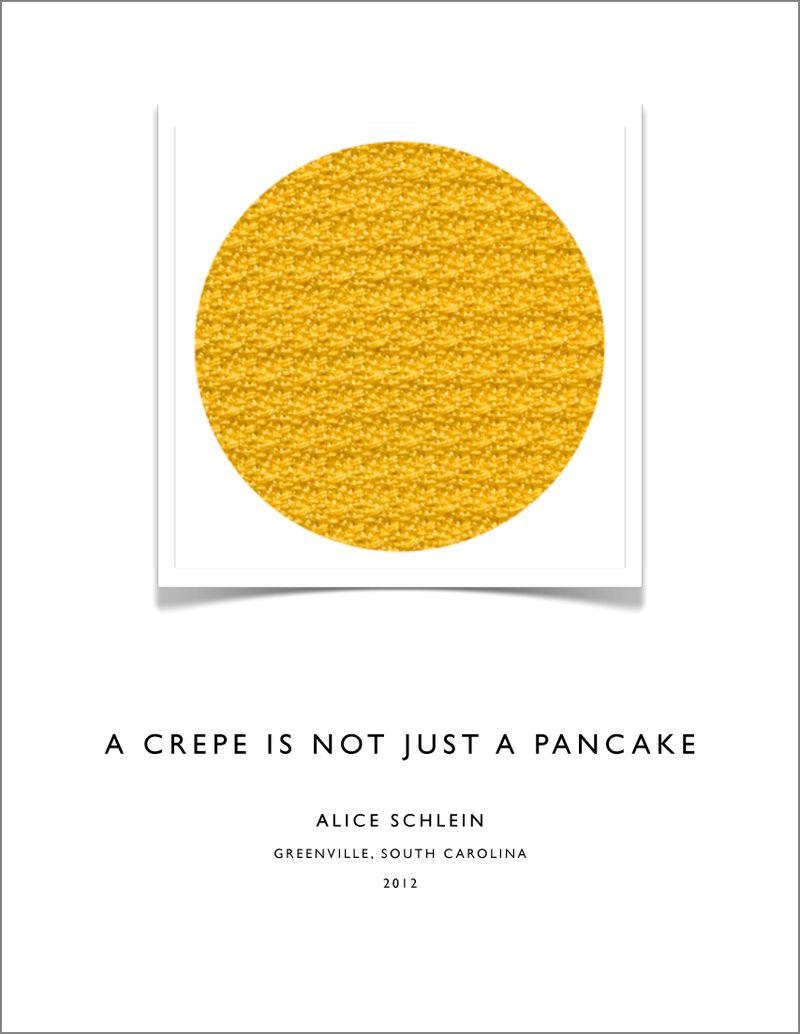 Crepe Book Cover