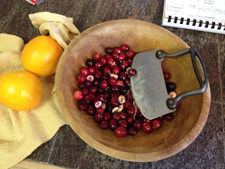Cranberries & chopper