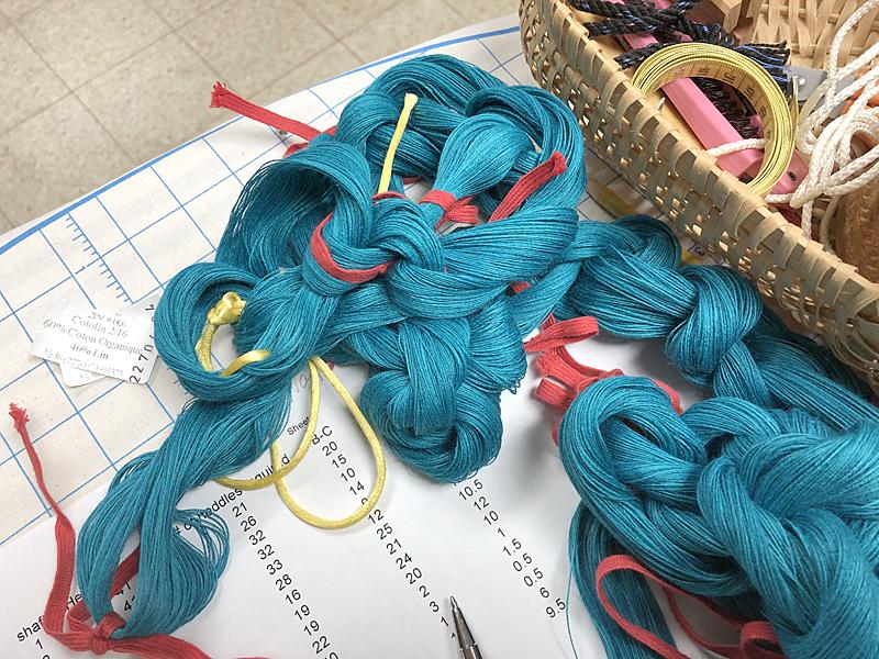 Turquoise warp chain