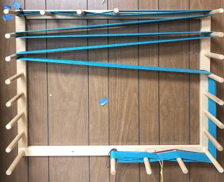 Turquoise warp